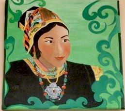 Un tableau de Kalsang Dikyi