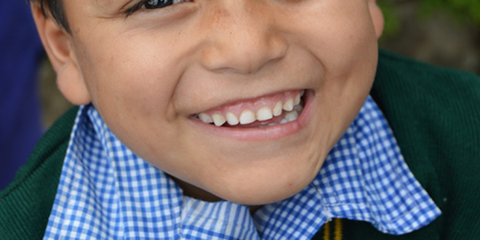 Enfant d'un TCV en Inde