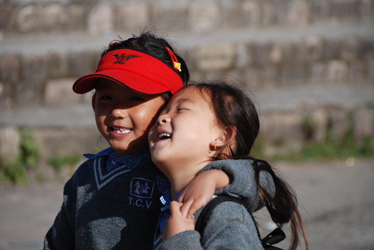Enfants d'un TCV en Inde