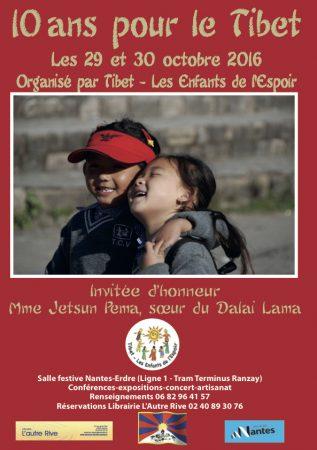 """Affiche """" 10 ans pour le Tibet """""""