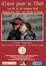 """Affiche """"10 ans pour le Tibet"""" (à cliquer pour obtenir le programme complet en pdf)"""