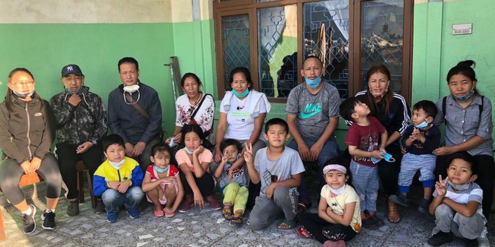 Familles tibétaines vivant à  Kathmandu (Népal) aidées à hauteur de 1500€ lors d'une première aide versées en juillet 2020, dans le cadre de la crise liée à la pandémie de la Covid-19.
