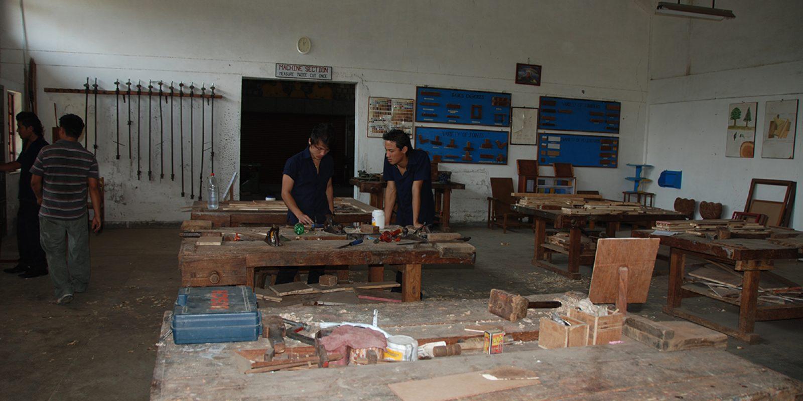 Centre d'apprentissage de Selakui en Inde, près de Dehradun