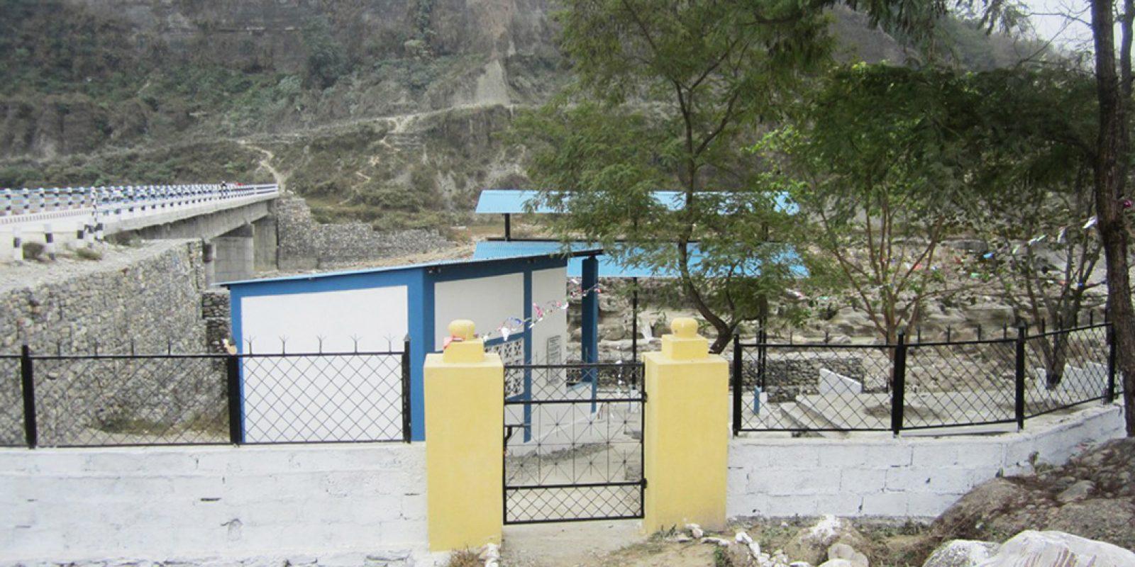 Construction d'un site de crémation de Jampaling à Pokhara (Népal)
