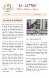 La lettre N°04<BR/><i>(Avril 2013)</i>