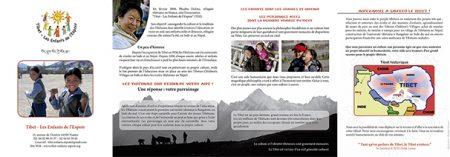 """Plaquette """" Tibet — les Enfants de l'Espoir"""""""