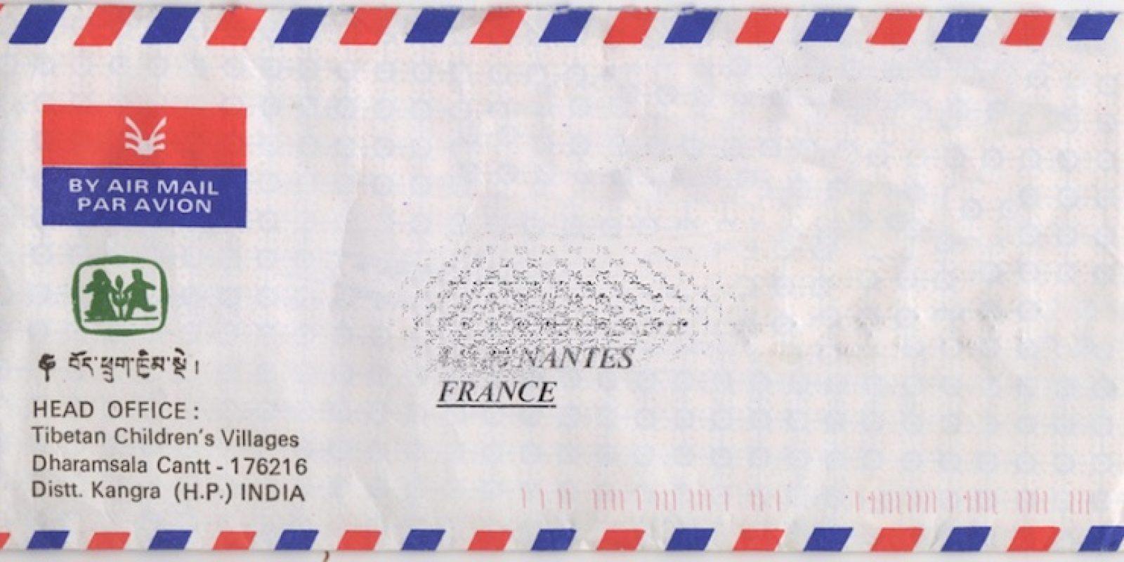 Enveloppe lettre enfant depuis TCV